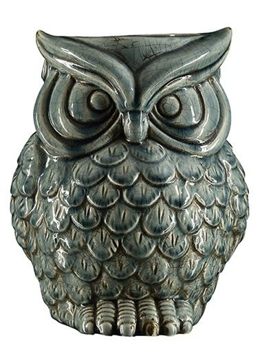 Cemile Soft Blue Owl Contaıner 25 Cm Renkli